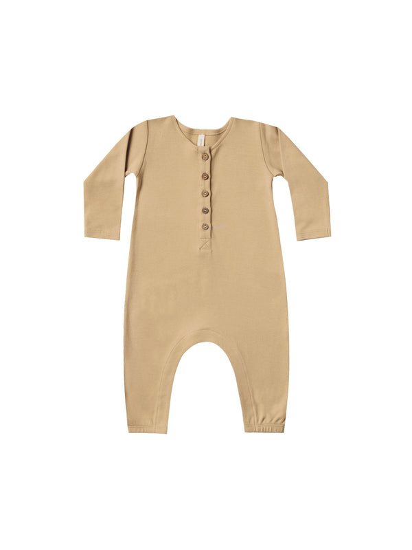 Long Sleeve Jumpsuit Ribbed Jersey - Honey