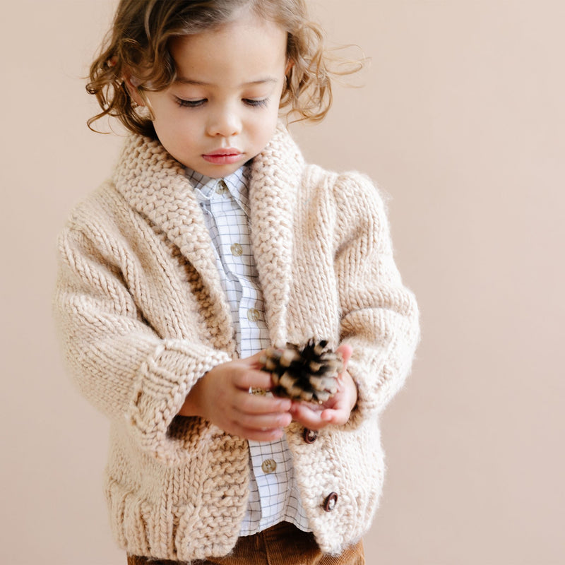 Button Up Knit Sweater, Latte