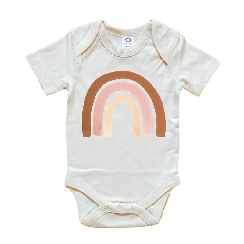 Blush Rainbow Organic Bodysuit