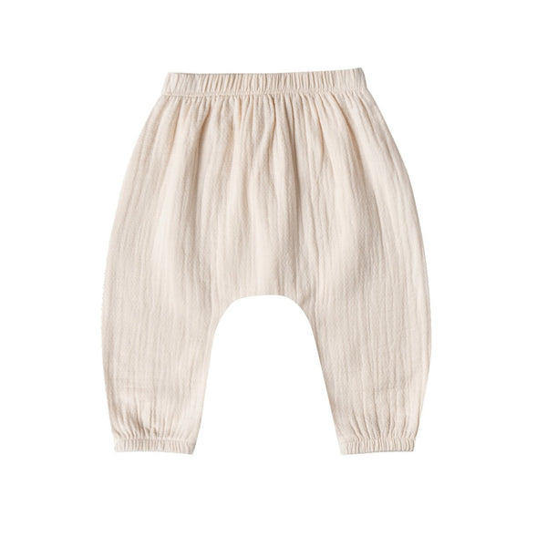 Organic Cotton Woven Harem Pant in Pebble