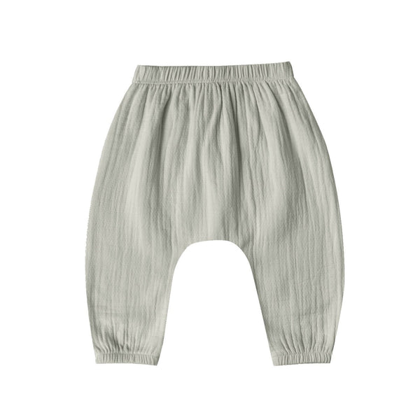 Organic Cotton Woven Harem Pant in Sage