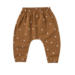 Organic Cotton Woven Harem Pant in Walnut