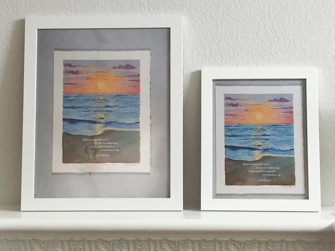 Framed Fresh Light Art Print, Ocean Sunset, 2 sizes