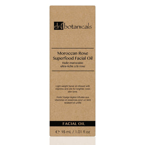 Moroccan Rose Superfood Facial Oil 15 ml - Dr Botanicals USA
