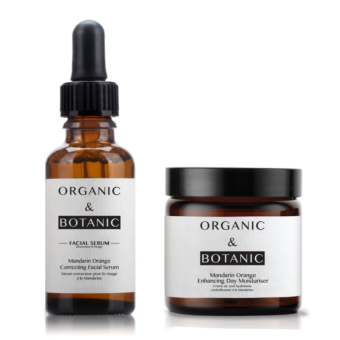 Mandarin Orange Correcting Facial Serum + Mandarin Orange Enhancing Day Moisturiser - Dr. Botanicals Skincare