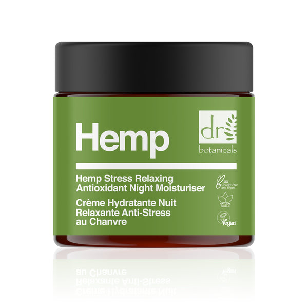 Hemp Stress Relaxing Antioxidant Night Moisturizer - Dr Botanicals USA
