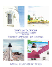 Load image into Gallery viewer, Lighthouses ~ Maine & NH  (Hand Cut Cards)