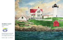 Load image into Gallery viewer, 2020 Holiday Card ~ Nubble Lighthouse
