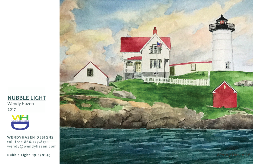 2020 Holiday Card ~ Nubble Lighthouse