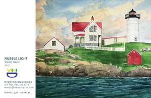Lighthouse ~ Nubble  (Hand Cut Cards)