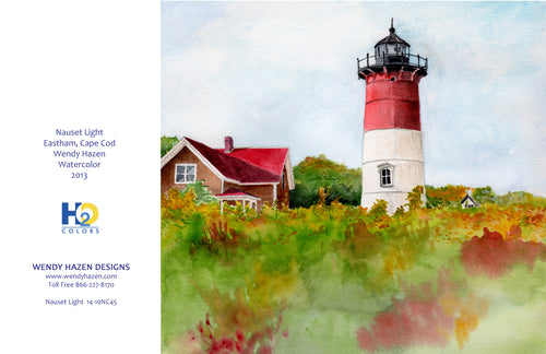 Lighthouse ~ Nauset  (Hand Cut Cards)