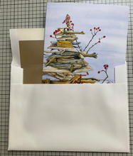 Load image into Gallery viewer, Holiday Cards ~ Driftwood Tree  (Hand Cut Cards)