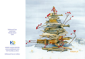 Holiday Cards ~ Driftwood Tree  (Hand Cut Cards)