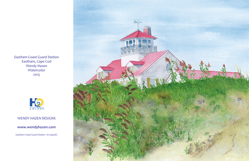 Lighthouse ~ Eastham Coast Guard  (Hand Cut Cards)