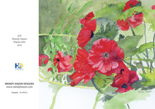 Load image into Gallery viewer, Holiday Cards ~ Poppies  (Hand Cut Cards)