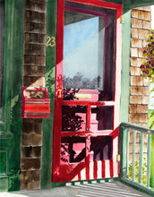 Load image into Gallery viewer, Red Screen Door   |  watercolors
