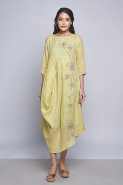 Plant Panorama Noa Dress Canary-Dresses-KAVERi