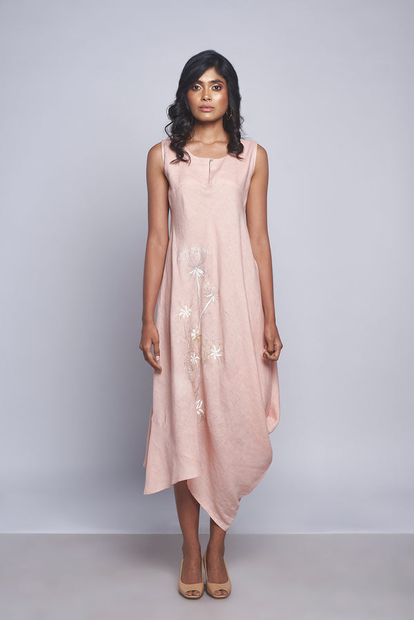 Plant Panorama Bali Dress Dusty Rose-Dresses-KAVERi
