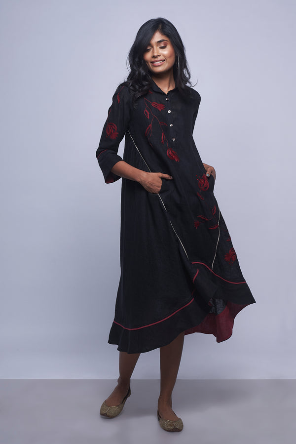 Pomegranate Play Cupcake Dress Black-Dresses-KAVERi