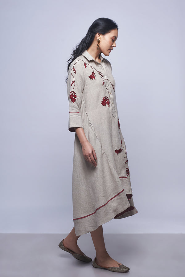 Pomegranate Play Cupcake Dress Natural-Dresses-KAVERi
