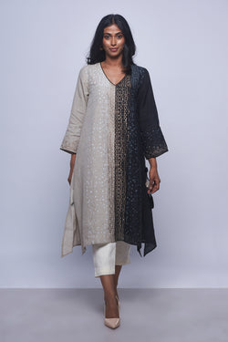 Rubix Tunic Black and Natural-Tunic-Kaveri