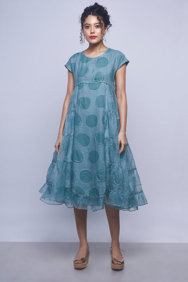 Circles in the Sand Amy Dress Sky-Dresses-KAVERi