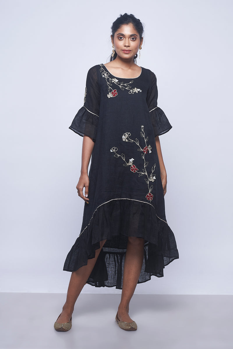 World on a String Julia Dress Black-Dresses-KAVERi