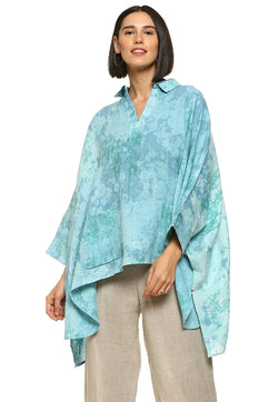 Essence Square Turquoise Top-Tops-KAVERi