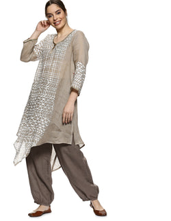 Silver leaf swim strong tunic cement-Tunic-KAVERi