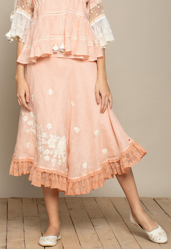 Dusty Rose Lily Skirt-Skirts-KAVERi