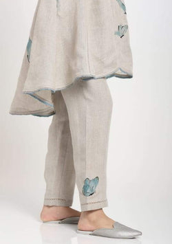 BUTTERFLY GARDEN STRAIGHT PANTS NATURAL-Pant-KAVERi