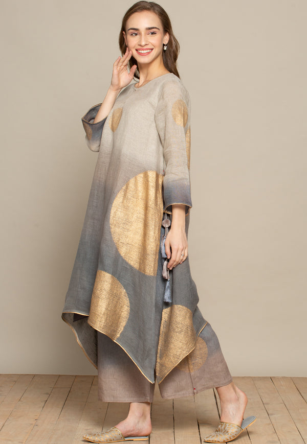 The Golden Dot Fly Free Grey Tunic-Tunic-KAVERi