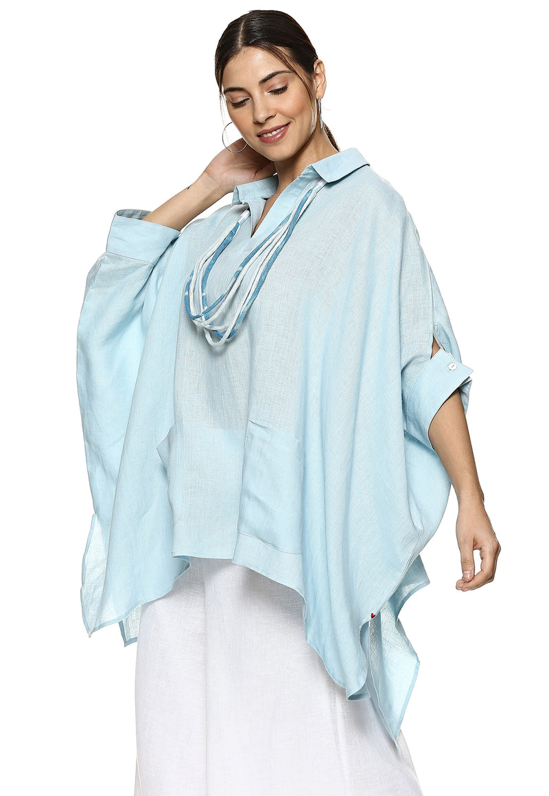 Top Stop Square Top Powder Blue-Top-KAVERi
