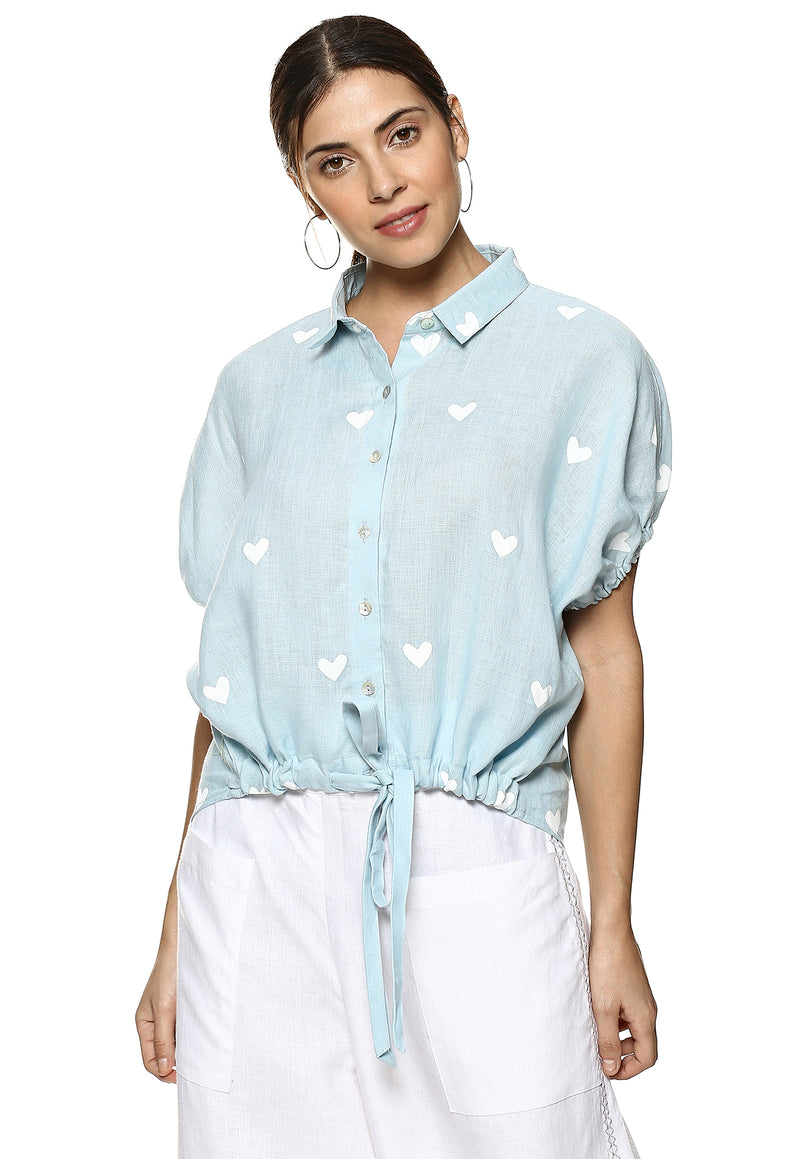 Top Stop Sweetheart Dolly Shirt Powder Blue-Shirt-KAVERi
