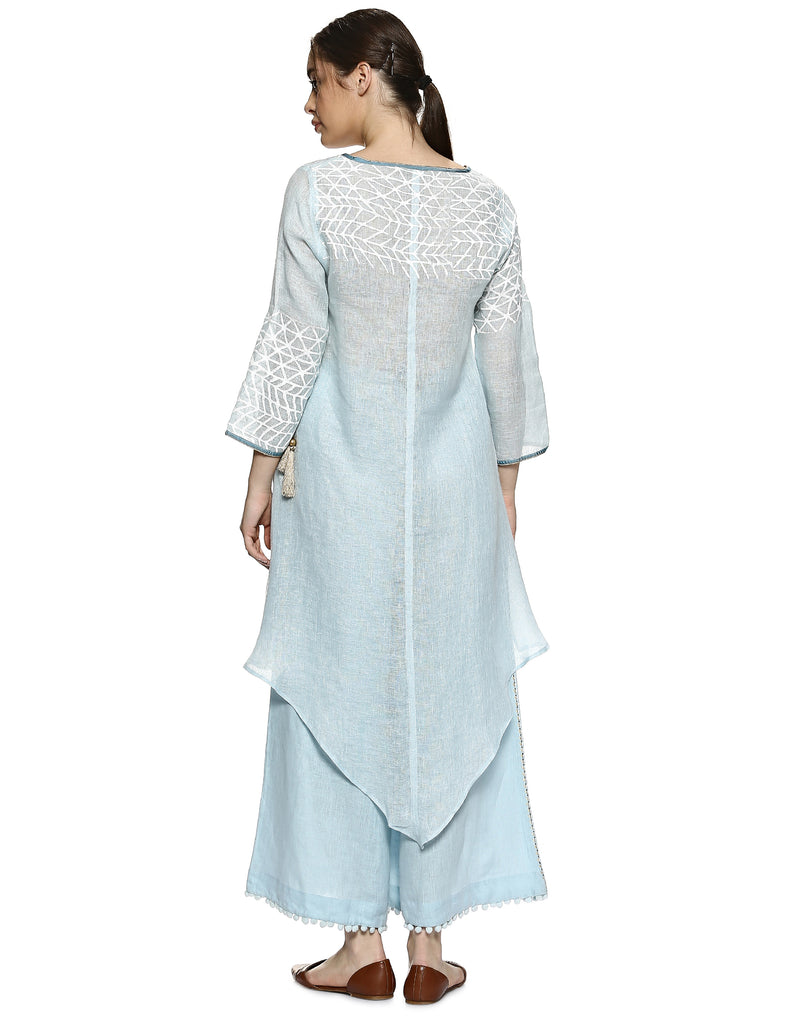 Silver leaf swim strong tunic powder blue-Tunic-KAVERi