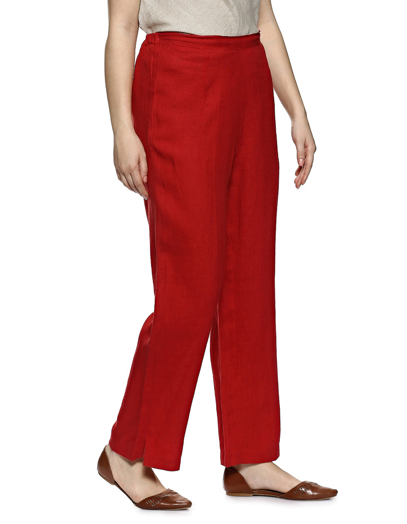 Stylish Staples Lounge Pant red-Pants-KAVERi
