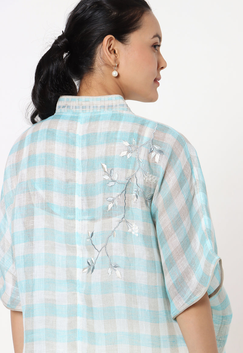 NOOL CROSSIANT TOP- TURQUOISE-Top-KAVERi