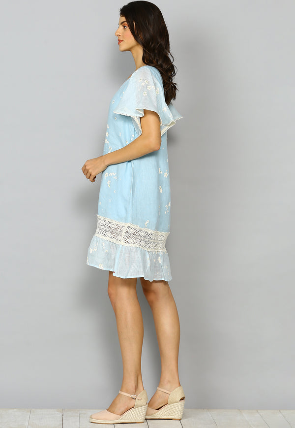 Baby's Breath Mona Dress Powder Blue-Dresses-KAVERi