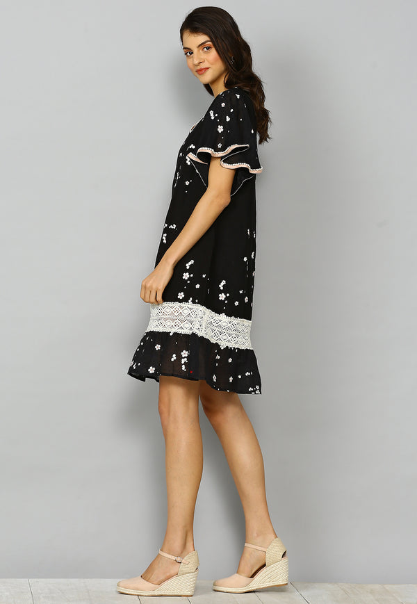 Baby's Breath Mona Dress Black-Dresses-KAVERi