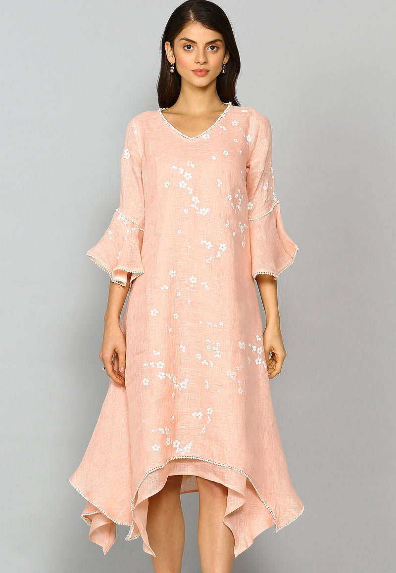 Baby's Breath Two layered Dress Dusty Rose-Dresses-KAVERi