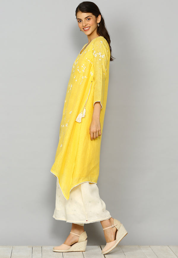 Baby's Breath Fly Free Tunic Yellow-Tunics-KAVERi