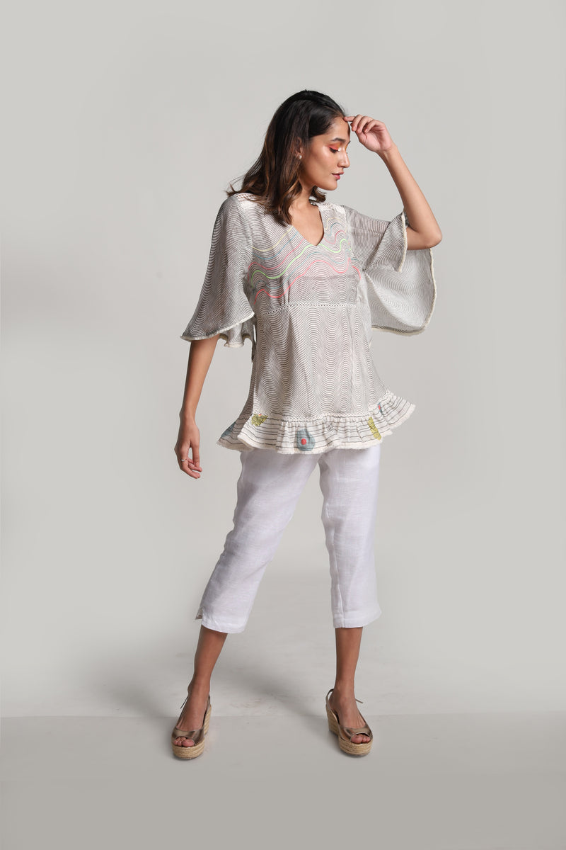 Echo Butterfly Top Off-White-Tops-KAVERi