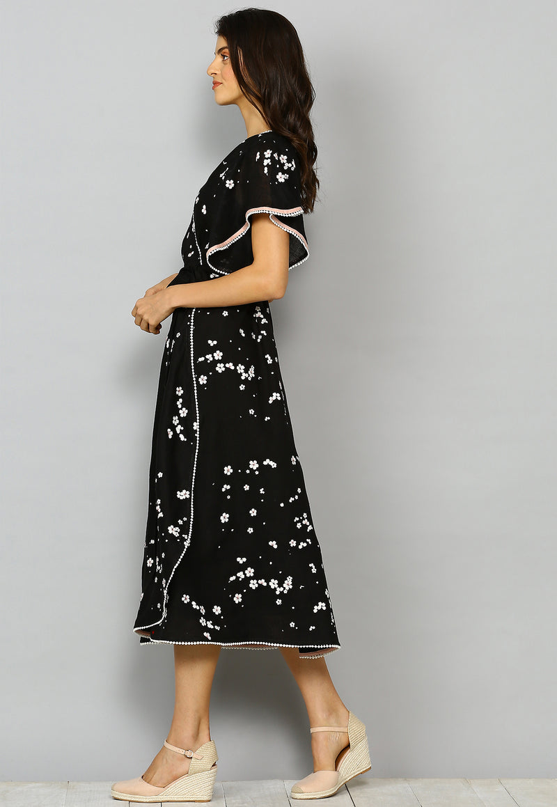 Baby's Breath Poppy Dress Black-Dresses-KAVERi