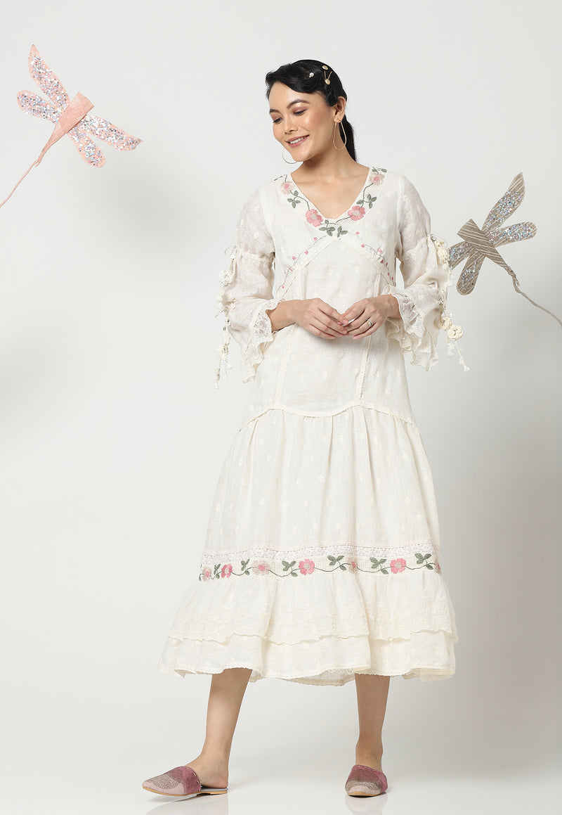 SWEET AMOUR CAROLINE DRESS OFF WHITE-Dress-KAVERi