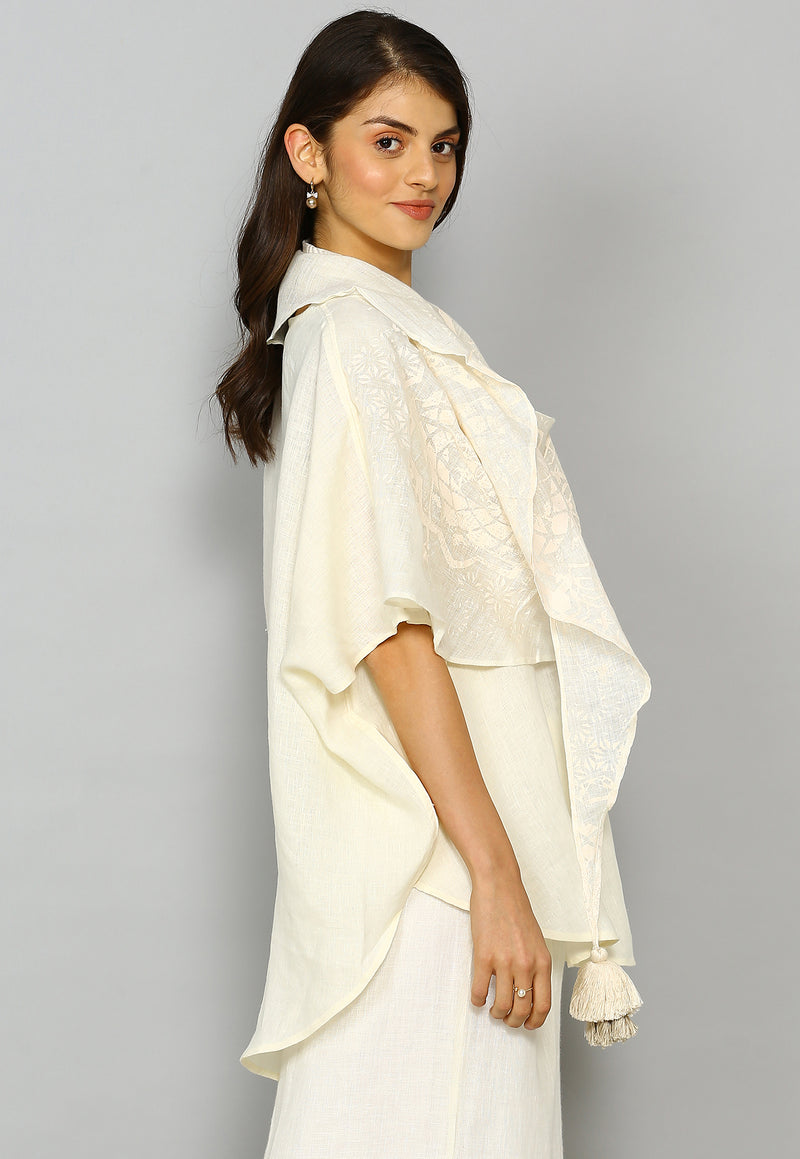Crescent Soul Croissant Top Off White-Tops-KAVERi
