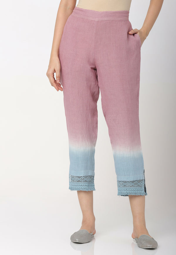 I MUST HAVE LOTS OF FLOWERS CROP PANTS ROSE SERENIE-Pant-KAVERi