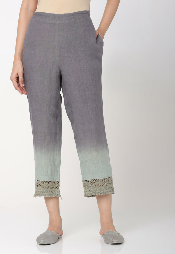 I MUST HAVE LOTS OF FLOWERS CROP PANTS SEA FOAM-Pant-KAVERi