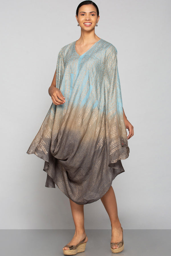 Chains Of Life Drape-Drape dress Aegean