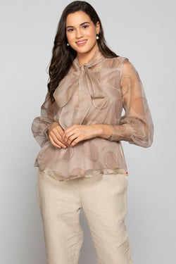 Circles in the Sand Shimmer Top Sand Castle-Tops-KAVERi