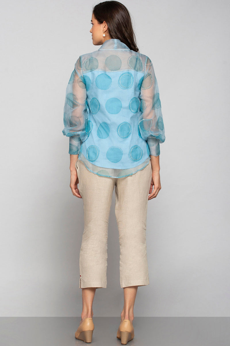 Circles in the Sand Shimmer Top Ocean-Tops-KAVERi